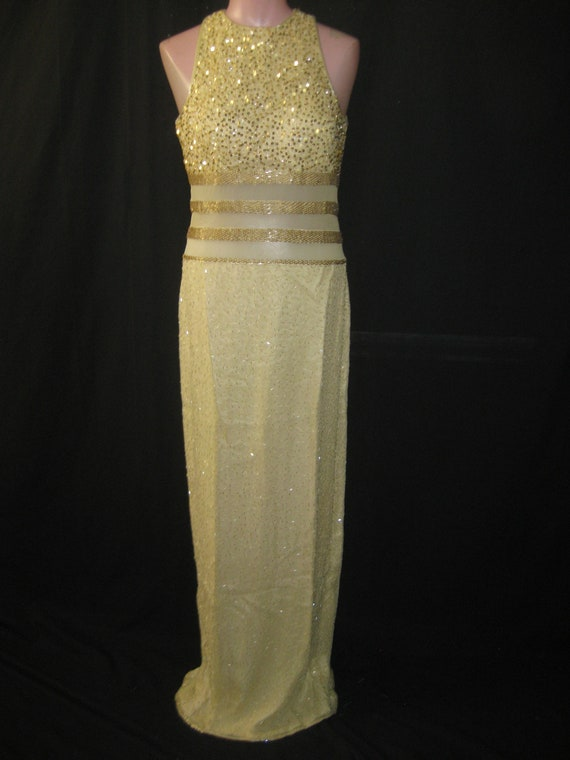 Banana/gold gown#2329