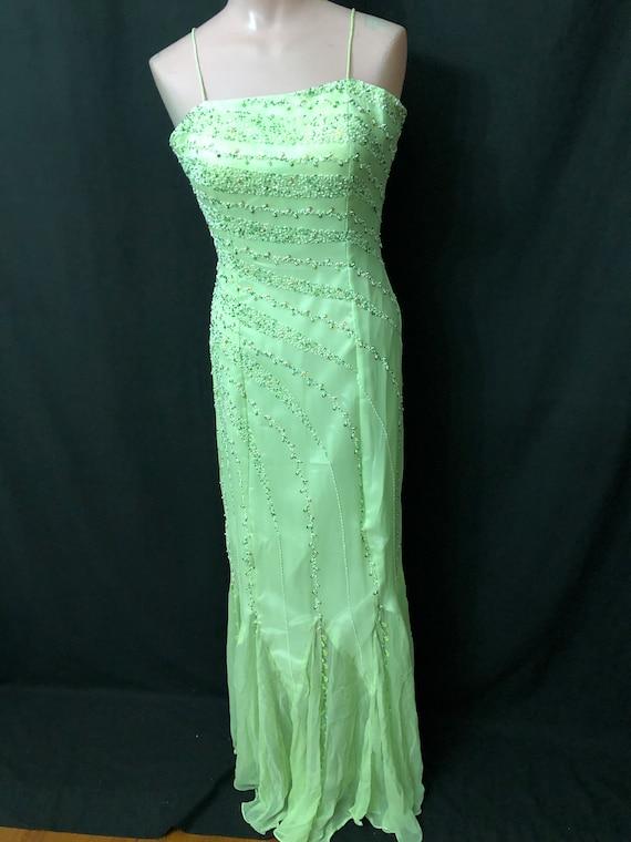 Irish green gown#10006