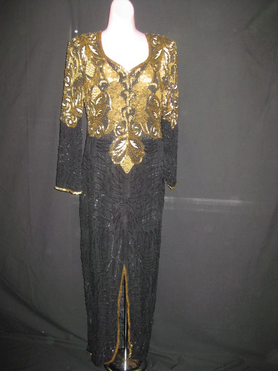 Black & Gold gown #106