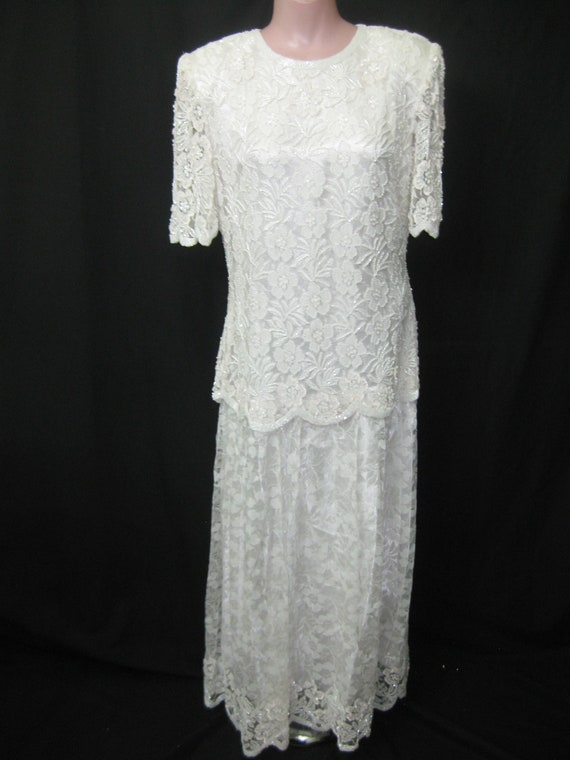 White Lace gown#1358