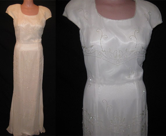 White beaded gown # 4101