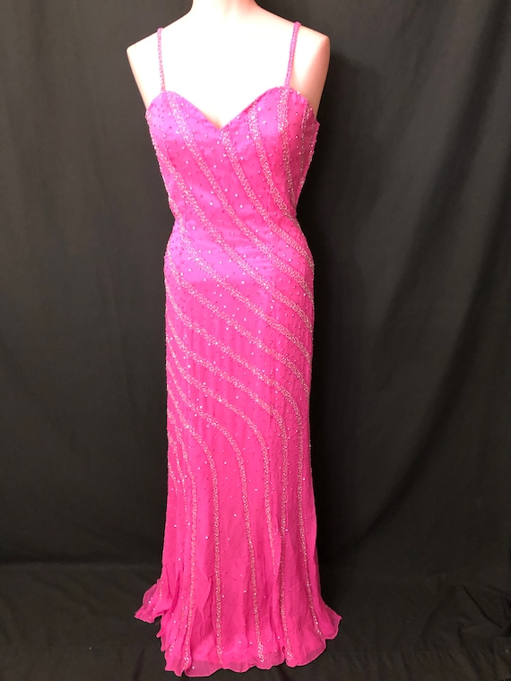 Pink and Silver Gown#7518