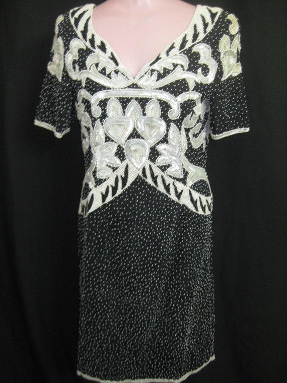 Short beaded dress