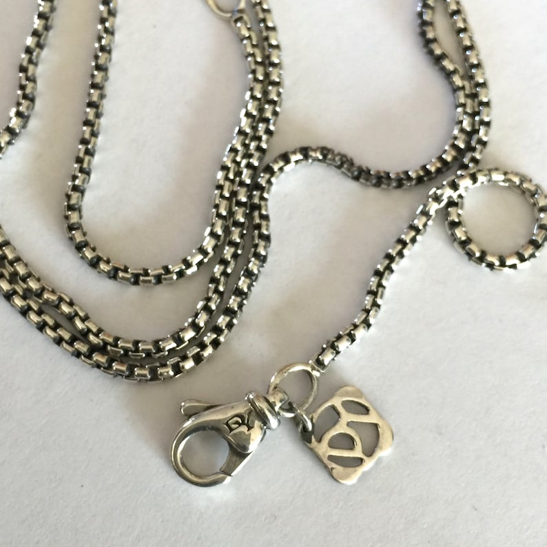 52e3ef3eb38 David Yurman Small Box Chain Sterling Silver Necklace. Silver