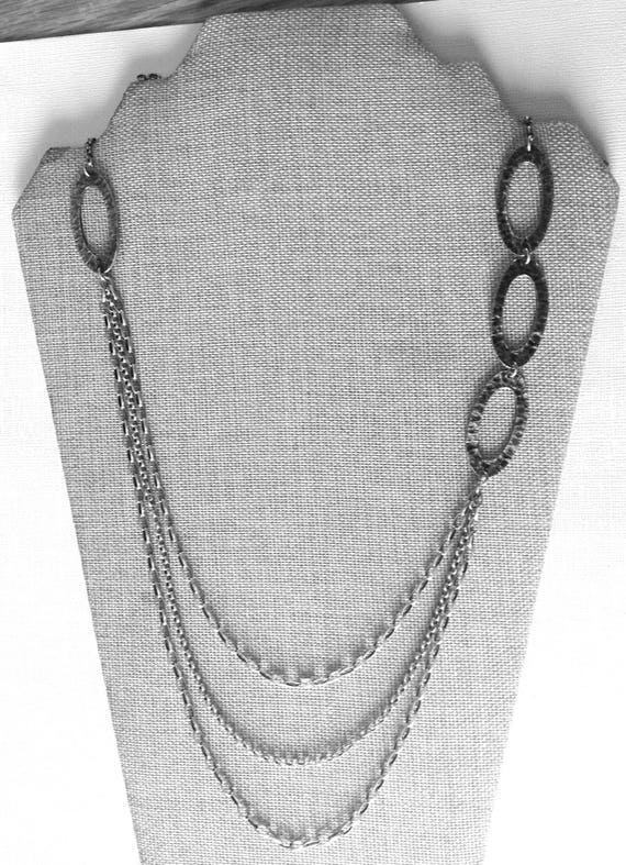 SILPADA Multi Layer Link Chain Necklace.