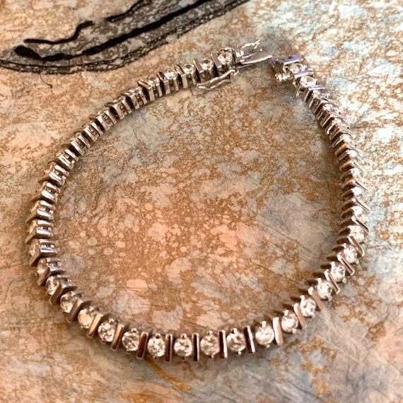 Tennis Bracelet. Cubic Zirconia Tennis Bracelet.
