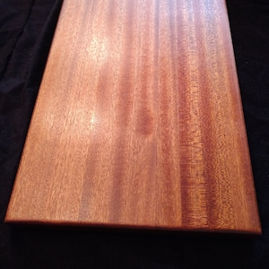 Kitchen Art Premium Gift Maple and Cherry Hardwoods Sapele CuttingServing Board Made In Hot Springs Village AR USA Unique HW010