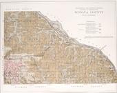 1901 Winona County Minnesota MN Rollingstone Utica Stockton Enterprise Centerville Richmond Pickwick Homer Mount Vernon Antique Map Railroad