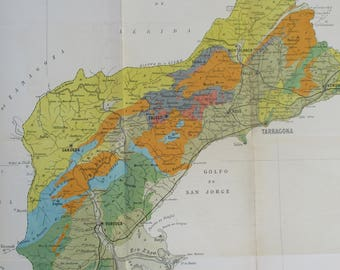 Geological Map Of Spain.Geological Spain Map Etsy
