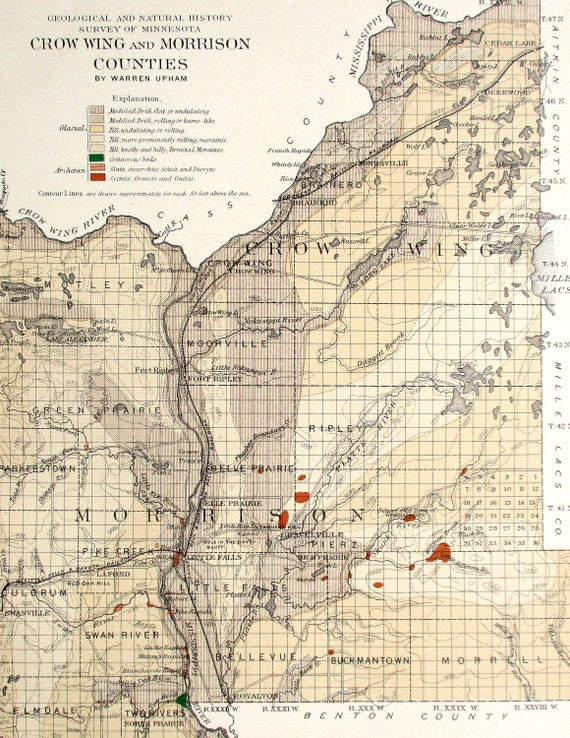 1901 Crow Wing & Morrison Counties Deerwood Royalton inerd, Fort Ripley, Camp Ripley Map on camp san luis obispo map, camp grayling map, fort bridger map, camp parsons map, camp ashland map, camp rapid map, camp coniston map, camp butner map,