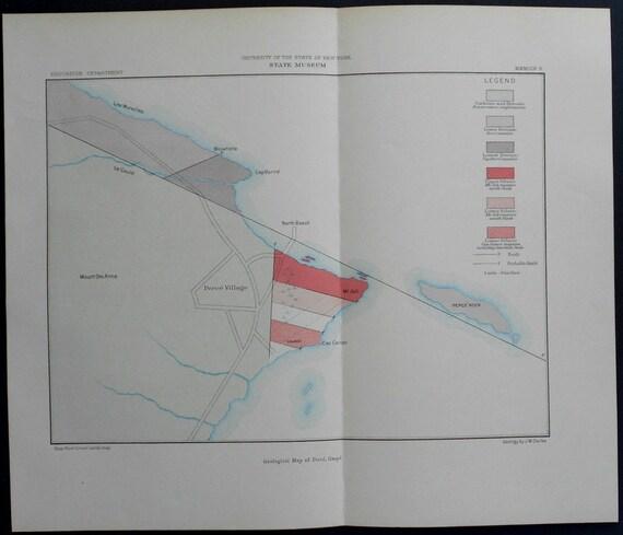 Gaspe Canada Map.1906 Map Canada Gaspe Bay Perce Villiage Rock Rocher Etsy