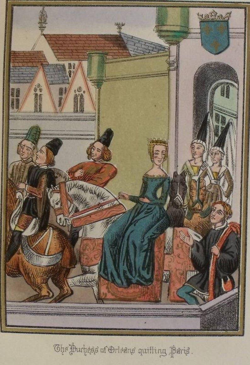 1868 The Duchess of Orleans Valentina Visconti Quitting Paris | Etsy
