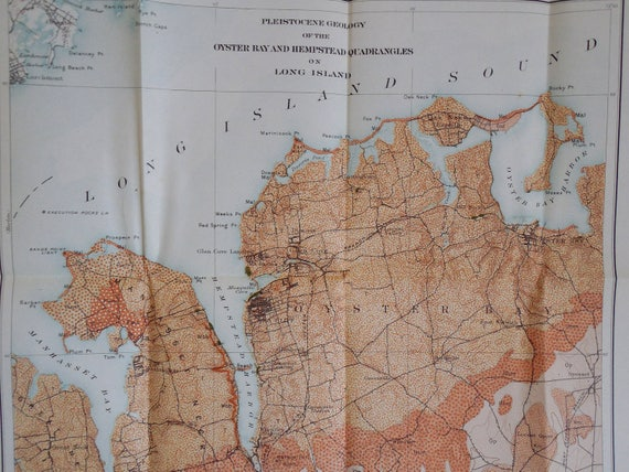 Oyster Bay New York Map.Oyster Bay To Hempstead Long Island Ny Map From 1901 Etsy