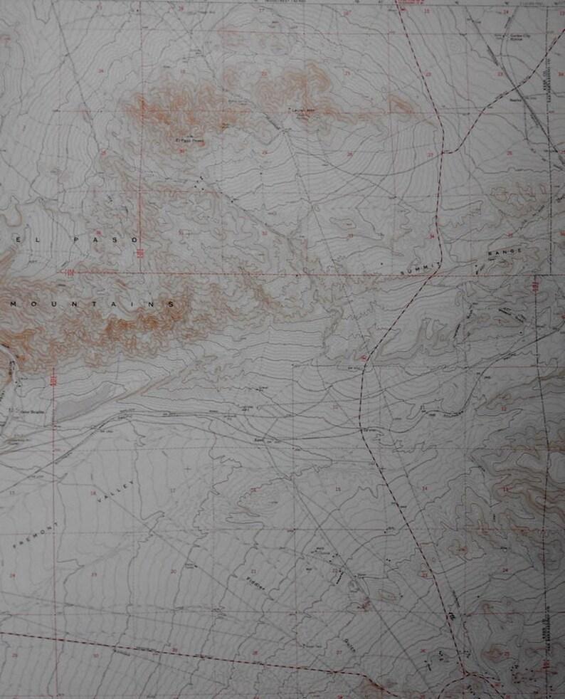 Vintage Map El Paso Mountains, Summit Range Kern County, Goler Heights on map of tehachapi mountains, map of san gabriel mountains, map of sierra madre mountains, map of los gatos mountains, map of southern california mountains,