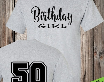 Birthday Girl T Shirt Its My Birthday T Shirt Swag Art Etsy