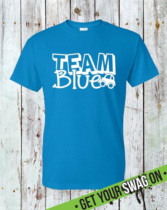 T Swag Ujawniają Blue Koszula Wzory Zespół Sztuki Etsy Płci qTwHtvxRx4