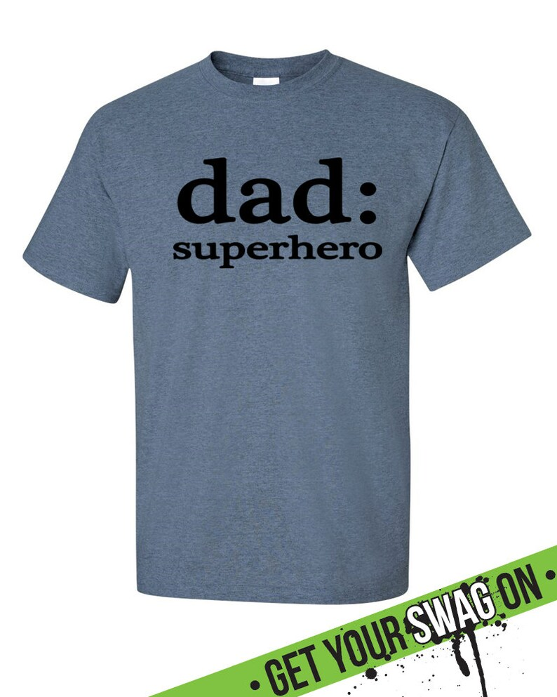 85d80278 Superhero Dad T Shirt Superhero Tee Fathers Day T Shirt | Etsy