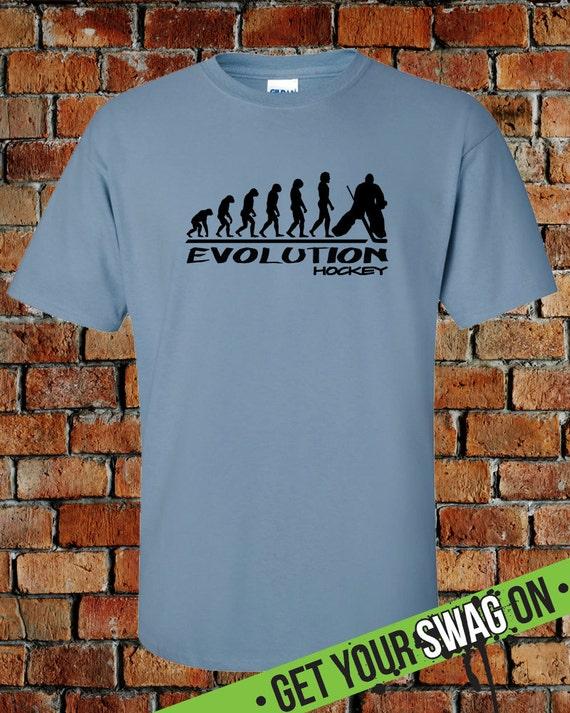 cc74714b Evolution Ice Hockey T Shirt Sports Shirt Hockey Goalie | Etsy