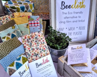 Multi Pack Beeswax Wraps, Beecloth food wraps, eco friendly food storage, plastic free, sustainable kitchen, zero waste gift, housewarming