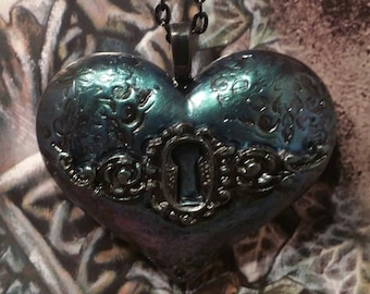 Heart Necklace, Steampunk Heart Necklace, Steampunk Necklace, Steampunk Jewelry