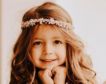 Flower girl Hair Accessory, Light Weight And Clips Into Hair For A No-slip Fit