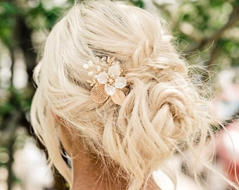 Pearl Flower Hair Comb For A Bridesmaid Or Flower Girl, Affordable Special Occasion Hair Accessory