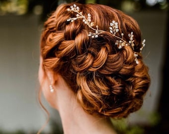 Baby's Breath Hair Vine The Perfect Finishing Touch To Your Wedding Day Look