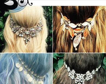 Wholesale Clip-in Hair jewelry, wholesale for salon's and boutiques