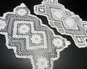 Filet Lace Doily Set of Two