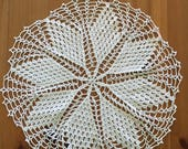 Crochet Doily Ecru Set of Two