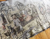 Early 1900s Belgian Arabian Market Scene Tapestry