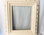 White Antique Picture Frame, Large 26 x 30