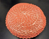 Orange Round Crochet Pillow