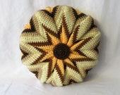 """Round Crochet Pillow 13"""""""
