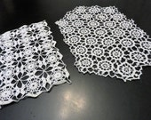 Crochet Doily White Set of Two