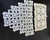 Two Cream Colored Vintage Doilies