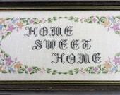 Home Sweet Home Framed Cross Stitch