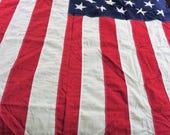 """50 Star American Flag Large Size, 112 x 54"""" Vintage US Flag, Sewn Stars, Vintage Americana,  American Flag, Red White Blue, Vintage Decor"""