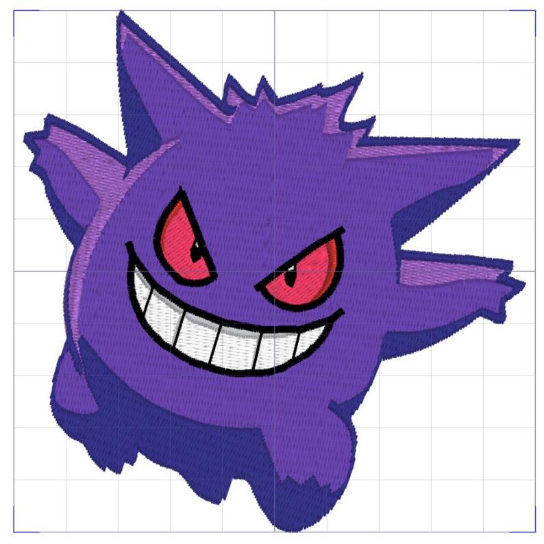 Gengar Pokemon Embroidery Design  6e2c7031a8de