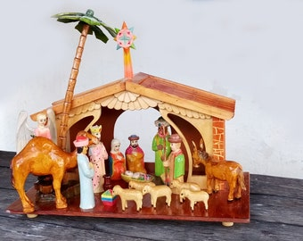 Nativity Scene with bases to make them stand on their own  cut from 3mm wood  decorate as you want them  Bonus hanging angeles included