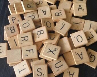 Vintage Scrabble Pick Your Letters Individual Tiles Choose