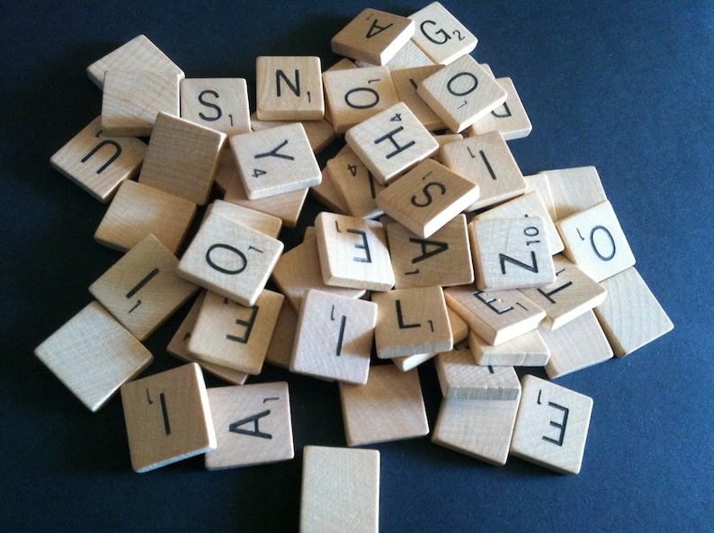 VOWELS ONLY: Pick Your Letters Individual Scrabble Tiles image 0
