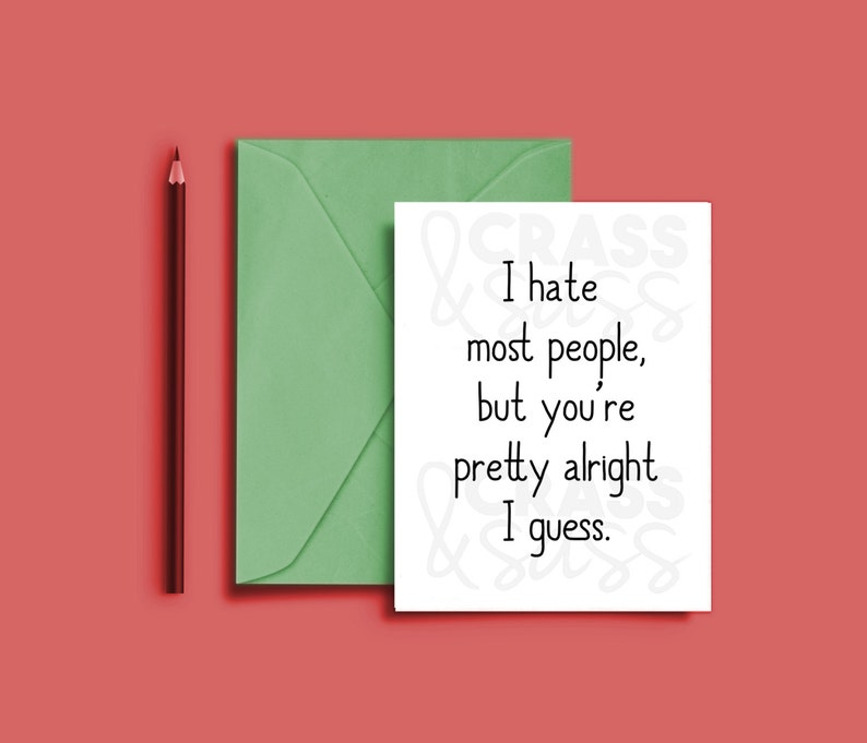 I Hate Most People Printable Card I Hate Everyone Card image 0