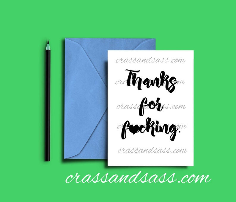 Thanks for Fcking Printable Card Father's Day Card image 0