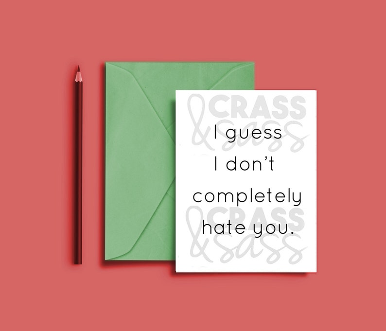 Printable Boyfriend Card I Guess I Don't Hate You Card image 0