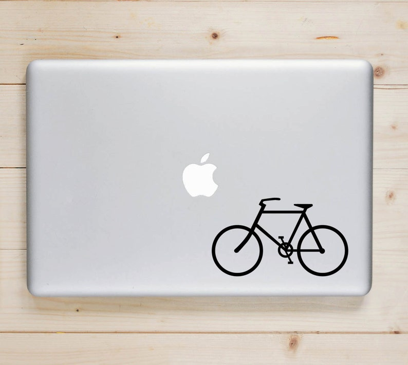 Bike Decals I Heart Bikes Bicycle Decal Cycling Vinyl image 0