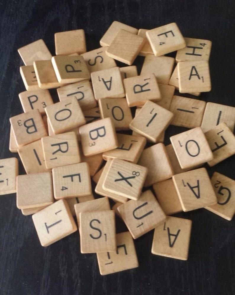 Vintage Scrabble Pick Your Letters Individual Scrabble image 0