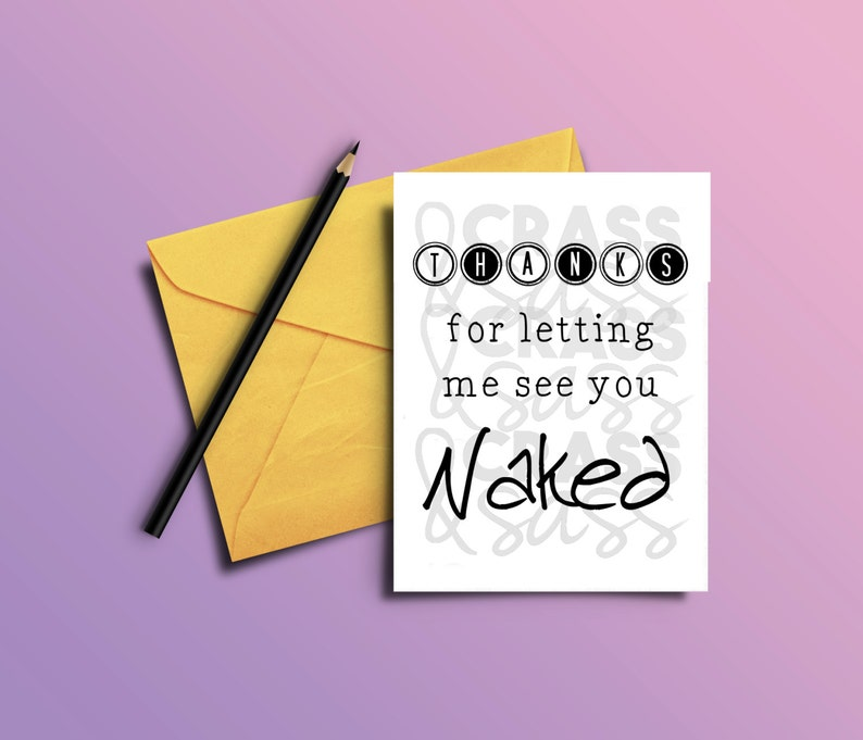 Thanks for Letting Me See You Naked Printable Card For Her image 0