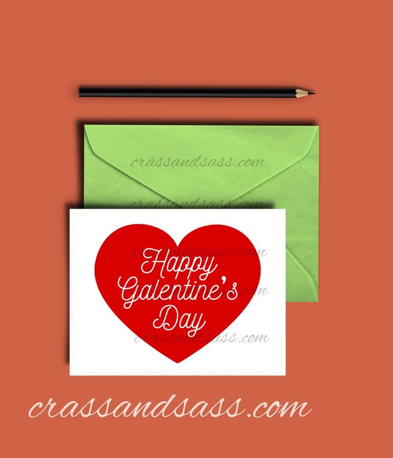 Printable Valentine's Day Card Happy Galentine's Day image 0