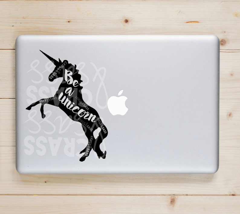 Be A Unicorn Sticker Unicorn Laptop Decal Be Yourself Love image 0